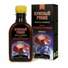 «Красный Рубин» - масло льняное с экстрактом зверобоя, чабреца, лабазника, амаранта, облепихи, моркови, курильского чая
