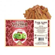 Яблочные хрустики из пастилы с Клюквой, 500г